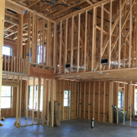 Check out the early building stages of this custom home! Framework set and drywall getting ready to go up!