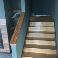 This beautiful staircase was tailored perfectly for the new homeowners!