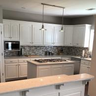 An after photo of a kitchen remodel.