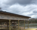 This custom built boat dock is the perfect commodity for boat enthusiasts!